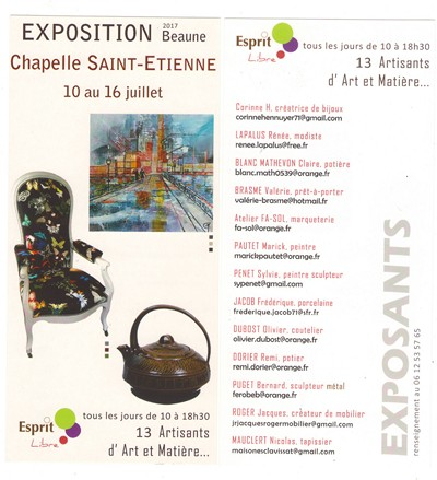 informations expo Beaune 2017